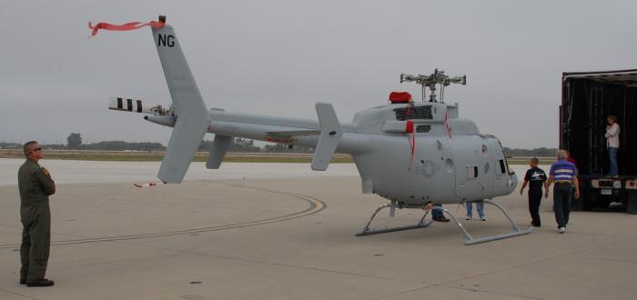 Elicottero MQ-8Cs un vero e proprio Unmanned Aerial Vehicle basato sul telaio del famoso Bell 407 airframe