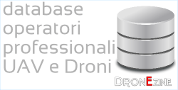database operatori riprese aeree, operatori professionali settore droni civili UAV e UAS