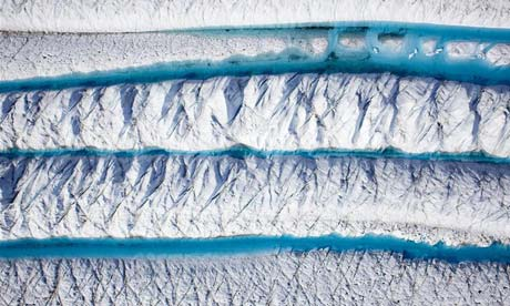 Una sezione del ghiacciaio Petermann in Groenlandia, Fotografia: Nick Cobbing / Greenpeace
