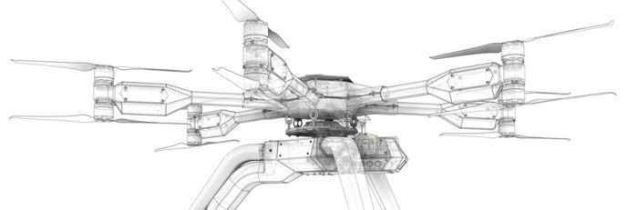 black-armored-drone-drawing