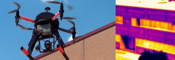 Un drone civile con termocamera per indagini termiche sul territorio - foto credii (c)microgeo