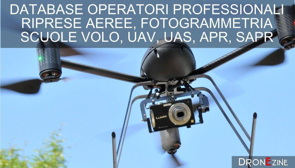 visualizzazione database operatori droni uav civili e sapr