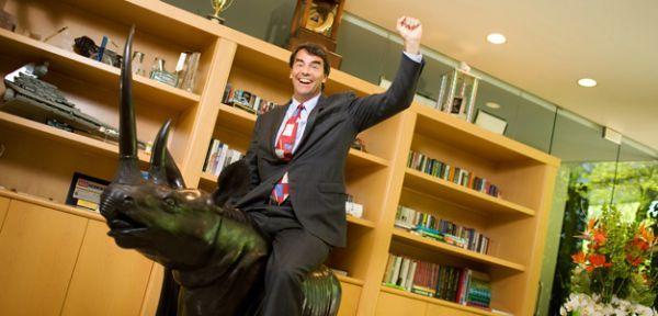 Tim Draper nel suo ufficio