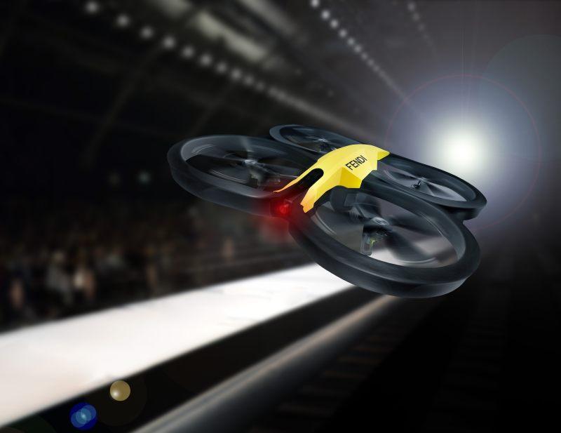 Fendi_Drone on the catwalk