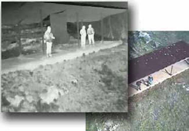 Immagine ricevuta dal sitema UAS tramite camera a infrarossi