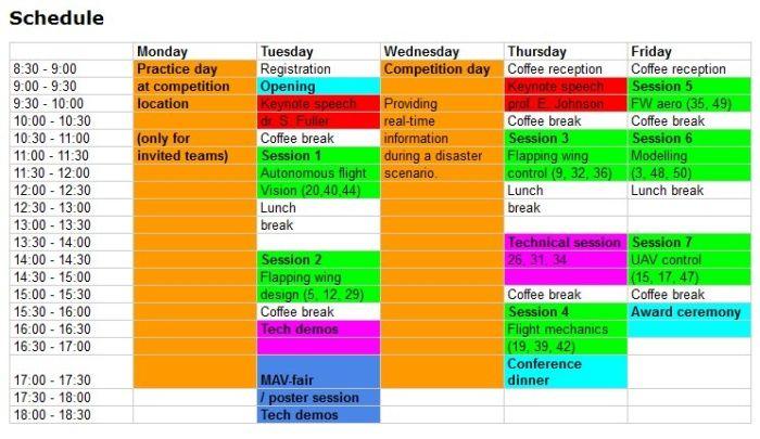 imav-schedule