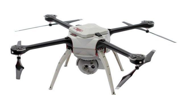 nella foto Aeryon SkyRanger un mezzo certificato FAA per missioni nelle aree di test