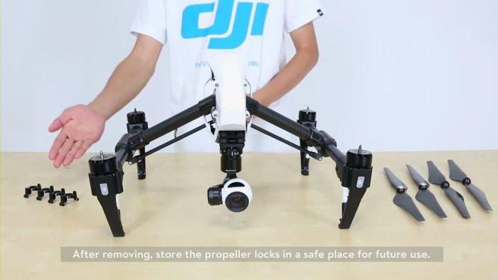DJI Inspire 1 sistema di fissaggio eliche