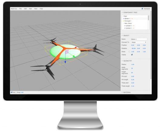 Software CAD gratuito per modellare droni
