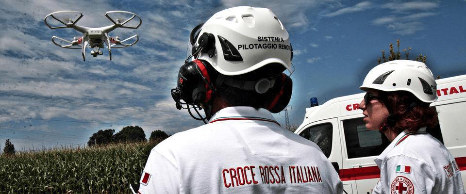 droni croce rossa italiana