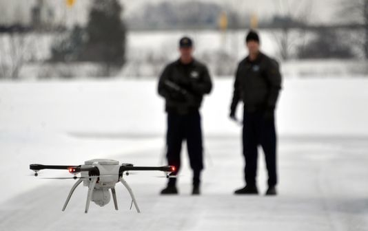 un drone per il rilievo di incidenti alla Polizia di Stato del Michigan