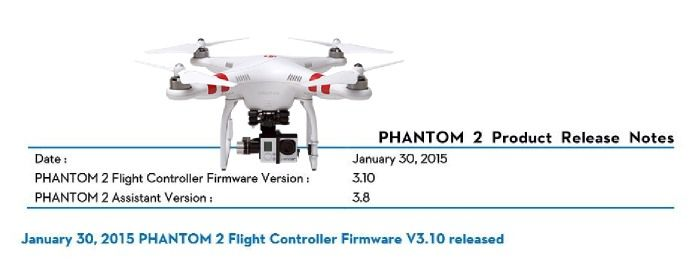downgrade firmware phantom 2