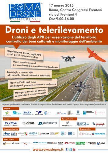 Locandina conferenza droni e telerilevamento