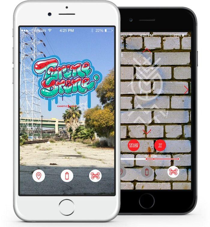 Tyron drone. app per il drone graffittaro