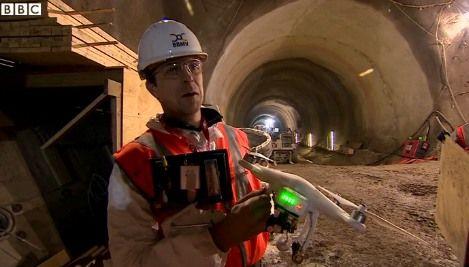 drone BBC linea ferroviaria Crossrail