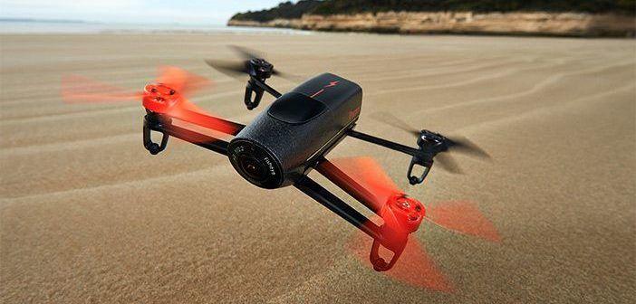 drone sopra ad area deserta