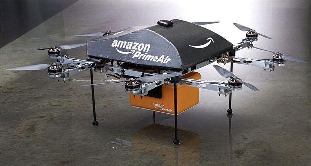 drone consegna pacchi di Amazon
