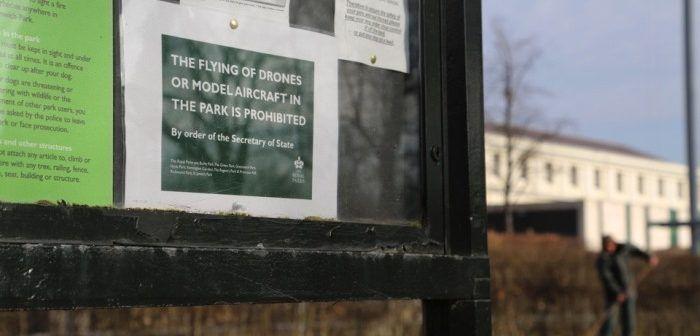 droni vietati nei parchi londinesi