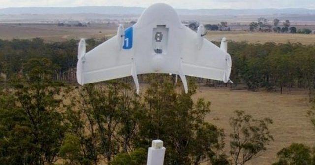 drone di Google, Project Wingper consegna dei pacchi