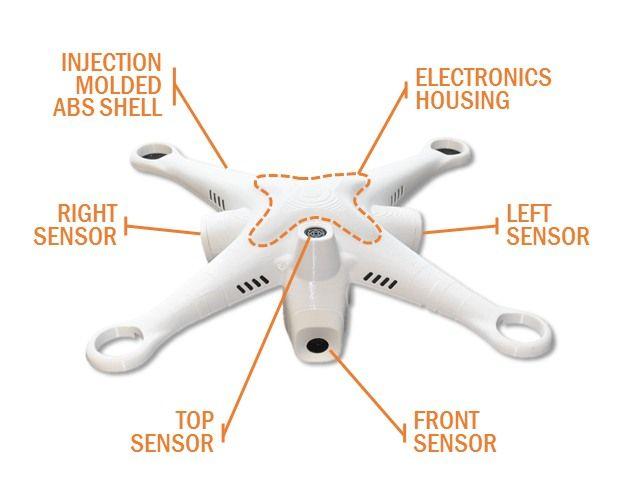 sistema anti collisione per droni dji phantom