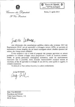 Lettera Di Maio a Riggio