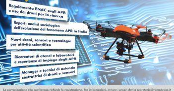 Scarica la locandina del evento Droni per la scienza