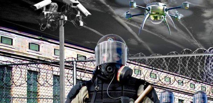 drone con spray urticante