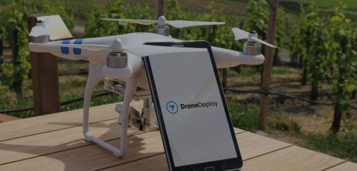 Dronedply per mappare campi agricoli con drone phantom