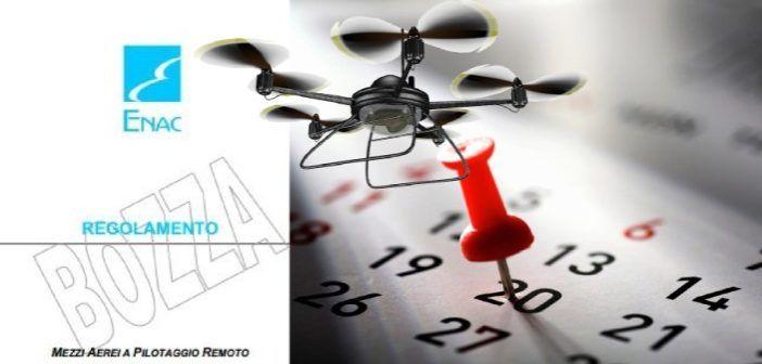 scadenza bozza regolamento droni civili 20 aprile