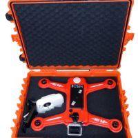 Valigia antispruzzo per drone anfibio