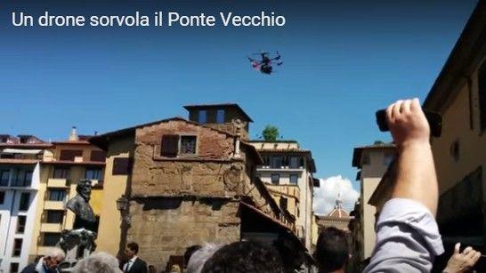 drone sorvola centro storico firenze