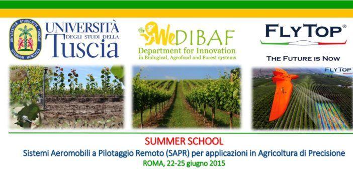 summer schho per droni in agricoltura di precisione