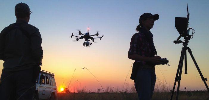Drone-Crew-Sunset-Botswana