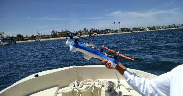aquadrone quadricottero da pesca