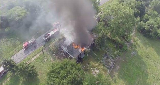 Cose da NOn fare: drone che filma incendio