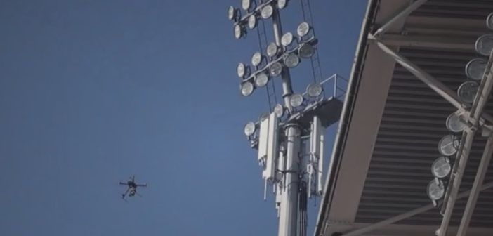 drone per ispezione antenne ripetitori cellulari