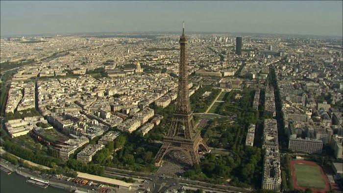 foto aerea parigi