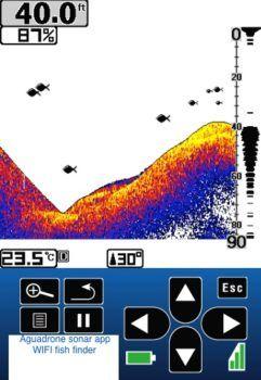 immagine proveniente da sensore sonar di drone pescatore