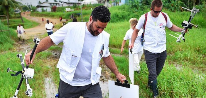 medici senza frontiere mappano il terreno con i droni nelle emergenze