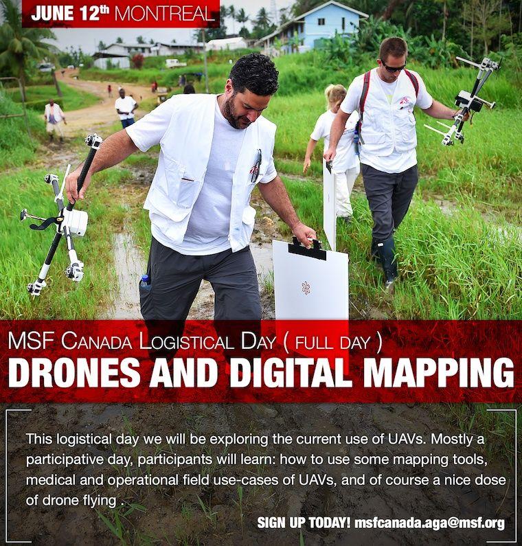 corso base per Medici Senza Fronitere sul uso dei droni