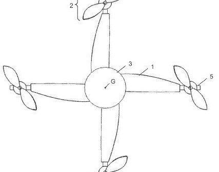 brevetto depositato drone autorotazione