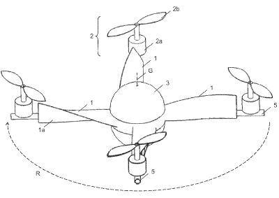 brevetto caduta drone autorotazione