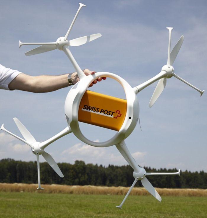 Drohnenflugtest der Post. (Yoshiko Kusano)