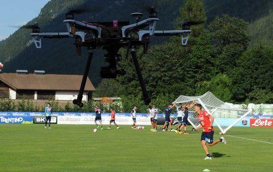 drone riprende allenamenti napoli calcio