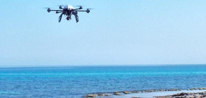 Drone sorvola coste a Cosenza per prevenire inquinamento