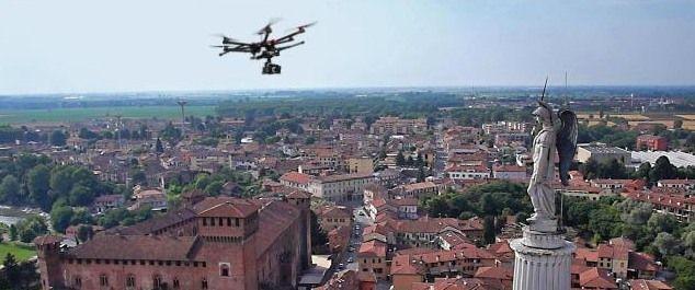 drone in volo non autorizzato