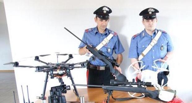 droni usati dai rapinatori per ispezioni