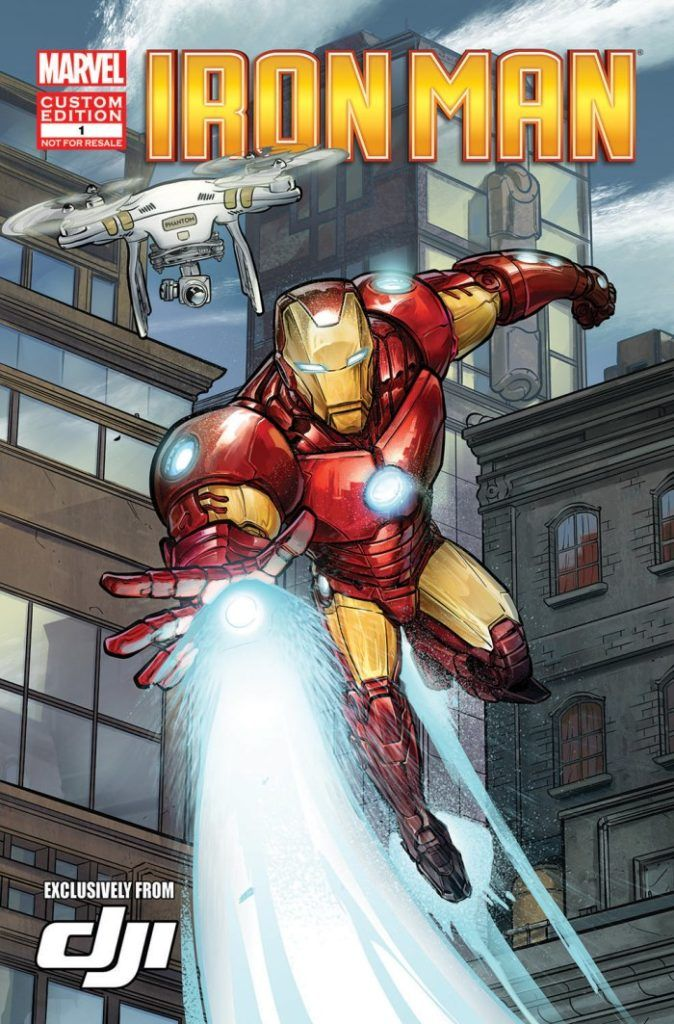 Iron Man prodotto da Marvel Comics con DJI Phantom