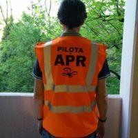 Gilet alta visibilità pilota APR retro