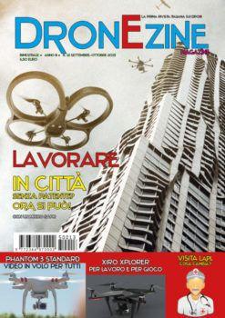 Ai droni da tre etti è dedicata la storia di copertina di DronEzine Magazine n.12, scarica gratis la tua copia (basta fare clic sulla foto)